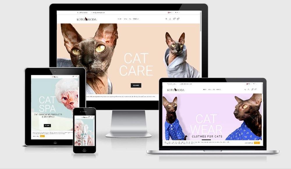 Primer spletne trgovine za ljubljencku