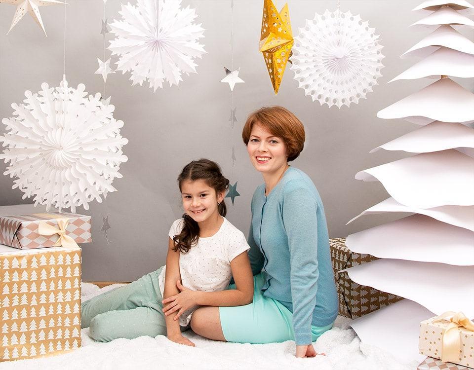 Družinska fotografija na Božič 2020 v Ljubljani