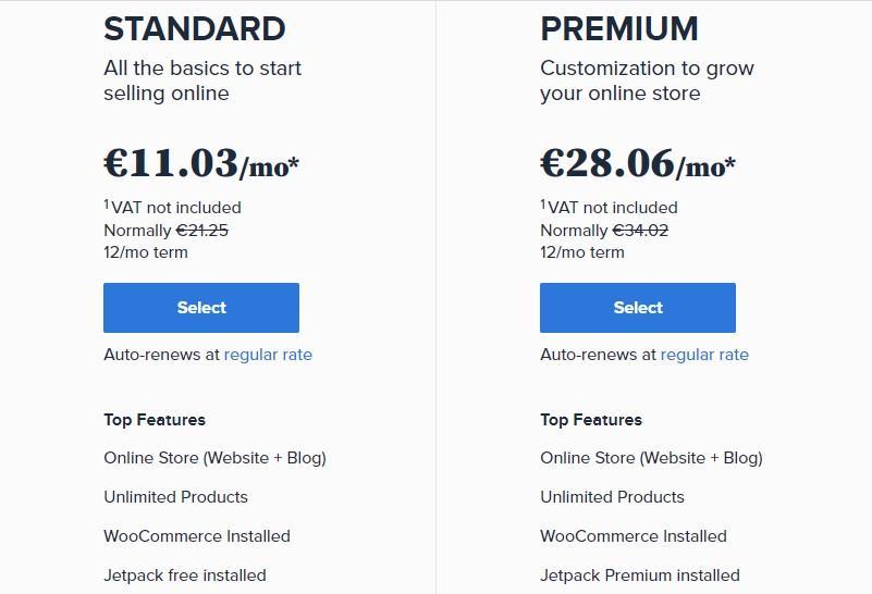 цены хостинга Bluehost